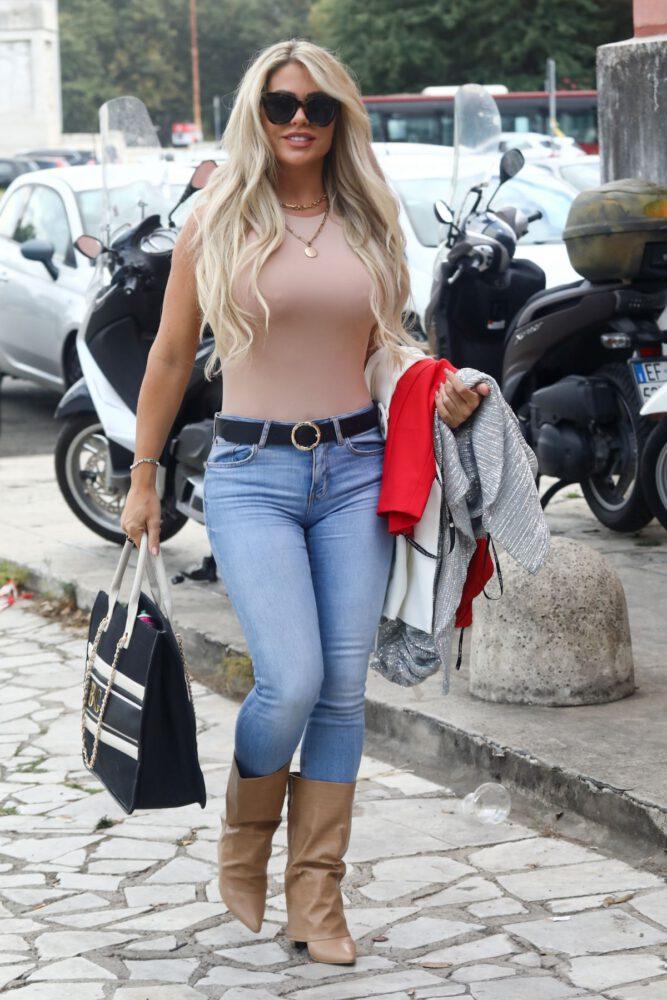 Bianca Gascoigne Big Braless Breasts