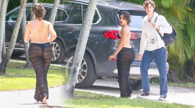 Camila Cabello – Fantastic Big Ass in Thong Panties Out in Coral Gables