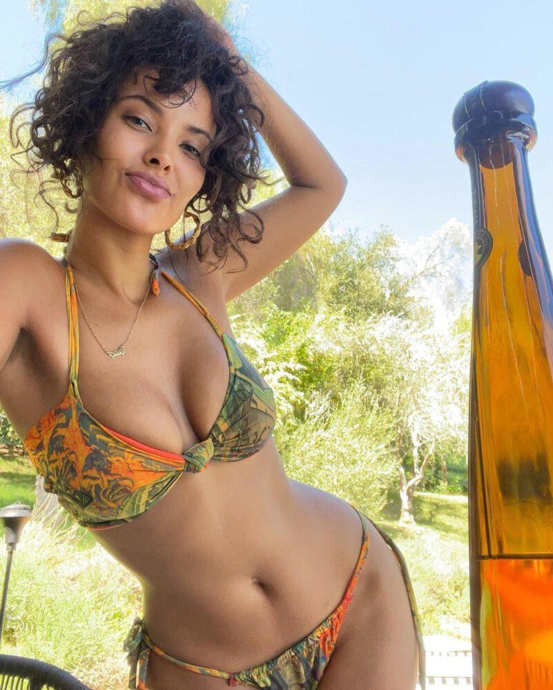 Maya Jama Gorgeous Boobs In Bikini