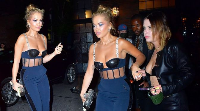 Rita Ora & Ashley Benson – Gorgeous Boobs in Sexy Toples Out in New York