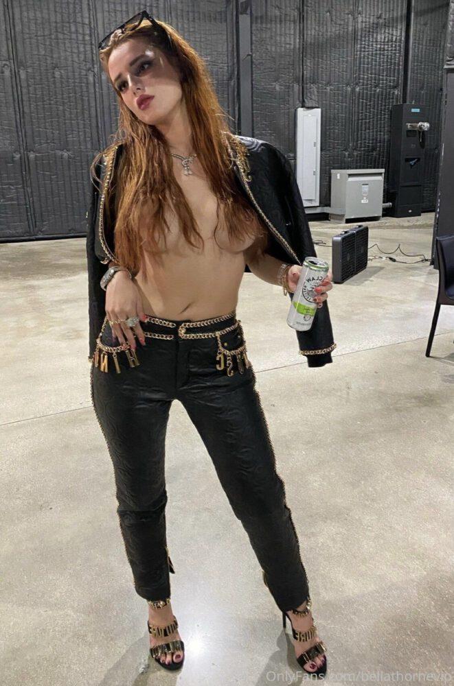 Bella Thorne Topless Boobs And Pierced Nipple