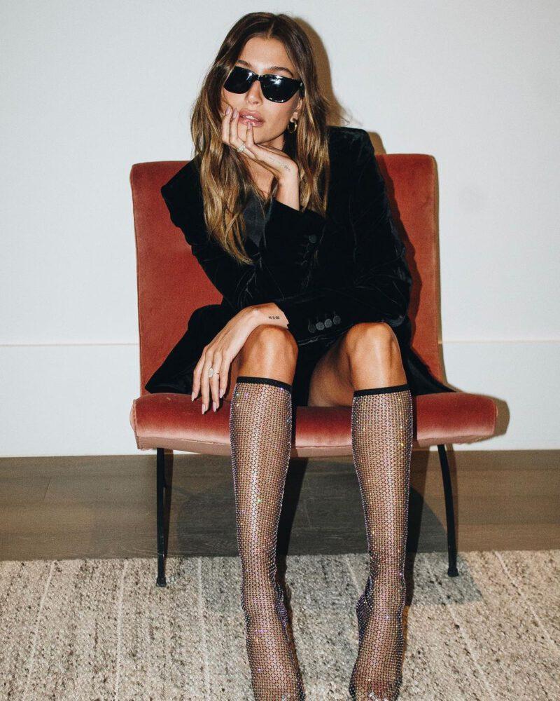 Hailey Bieber Sexy Legs