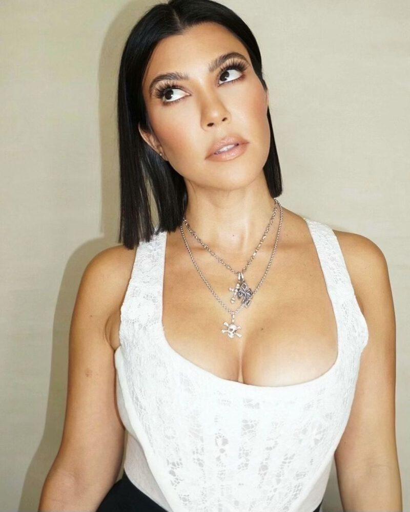 Kourtney Kardashian Sexy Cleavage