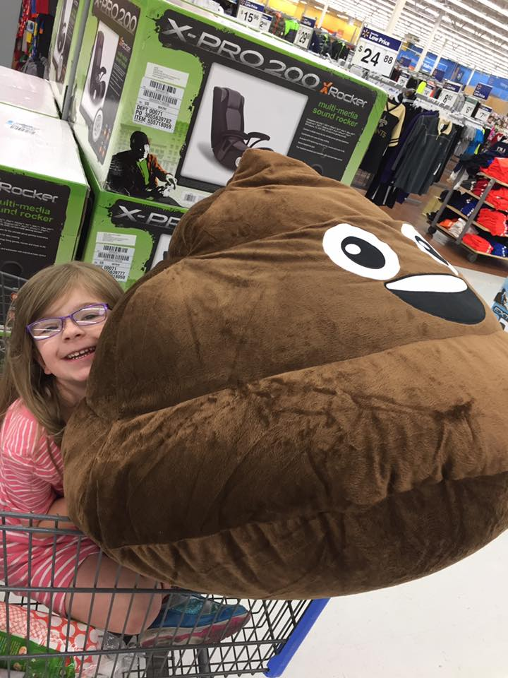 chair pillow walmart cover elegance poop emoji bean bag (because makes a kid happy!)