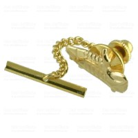 Gold Tie Tack 9Ct Football Boot Personalised Engraved Box