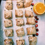 Cranberry Orange Scones with Cardamom and Toasted Pecans