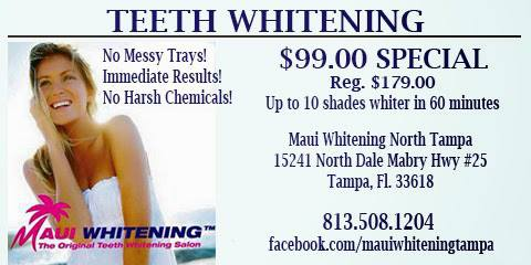 Maui Whitening Tampa extra $10 off existing promotions link to appointment book if possible https://booknow.appointment-plus.com/7dt6k2hv/