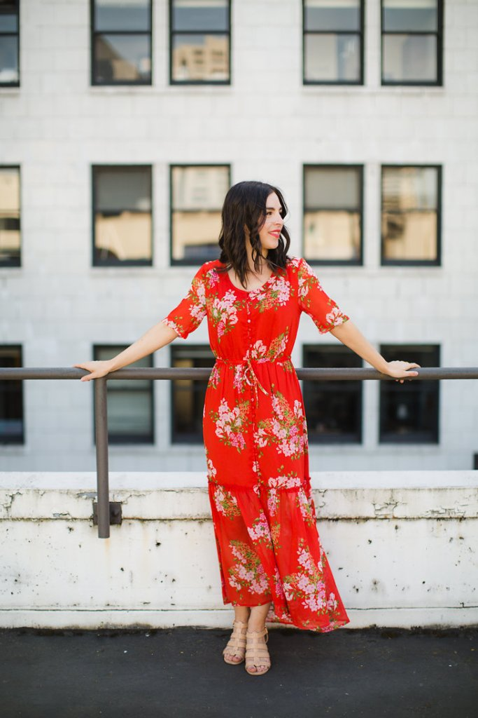 Affordable Clothing that Looks Expensive Who What Wear Red Floral Dress