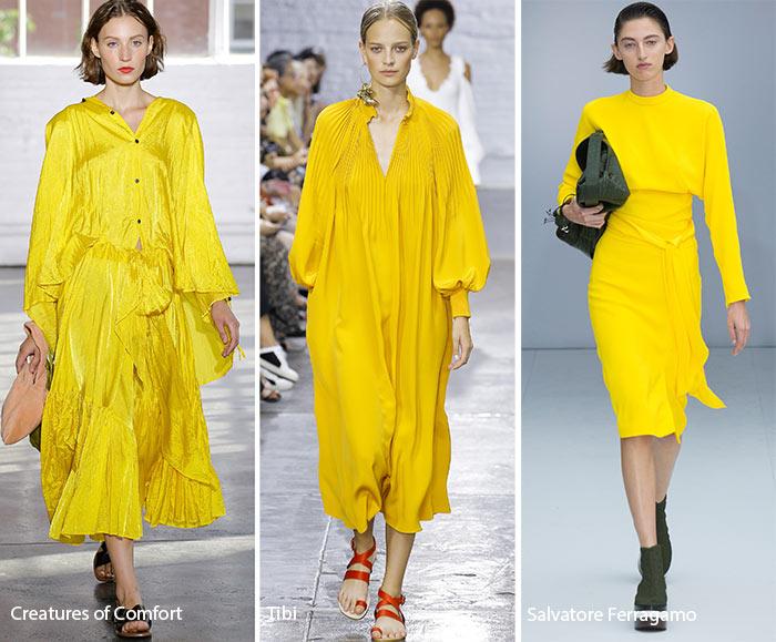 yellow summer fashion trend 2017 runway