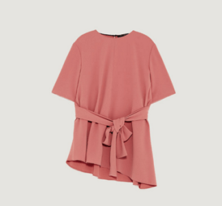 Pink TOP WITH BOW DETAIL