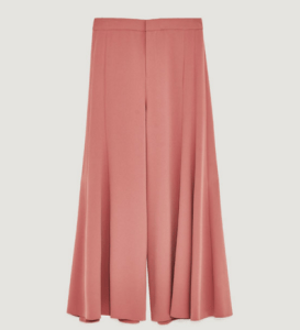Dark pink Zara WIDE-LEG TROUSERS WITH SEAMS
