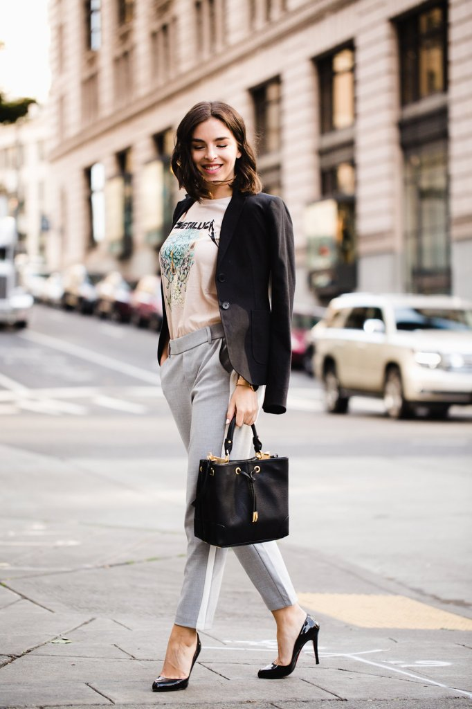 Street style outfits fow work women, work outfit ideas