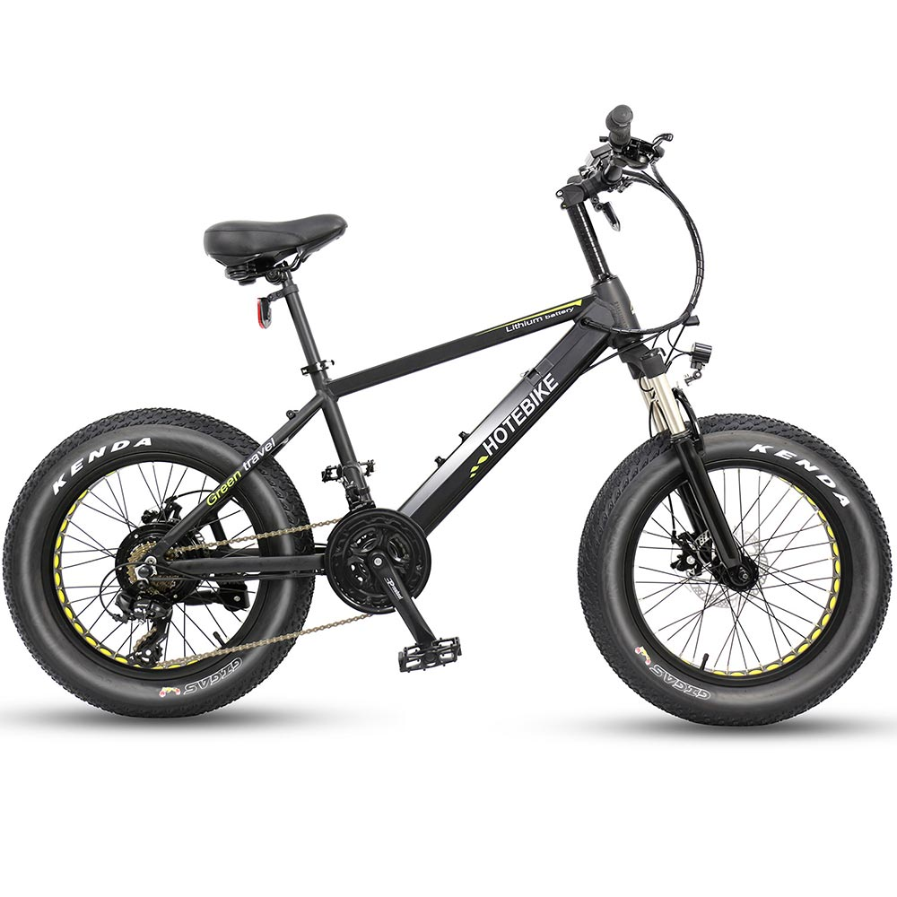 20 inch fat tire electric bicycle beach ebike A6AH20F