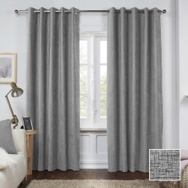 Sheraton Manhattan Eyelet Curtain Silver