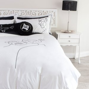 Sheraton Shadows Embroidered Duvet Cover Set