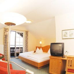 Hotelzimmer im Hotel Gasthof Falkenstein in Ried am Wolfgangsee im Salzkammergut