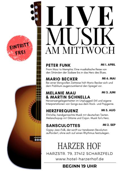 Livemusik am Mittwoch Harzer Hof Scharzfeld