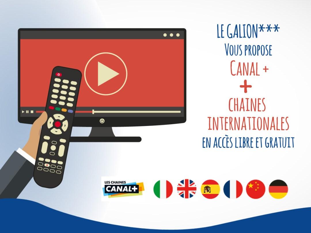 Chaines TV gratuites, Hôtel Le Galion***