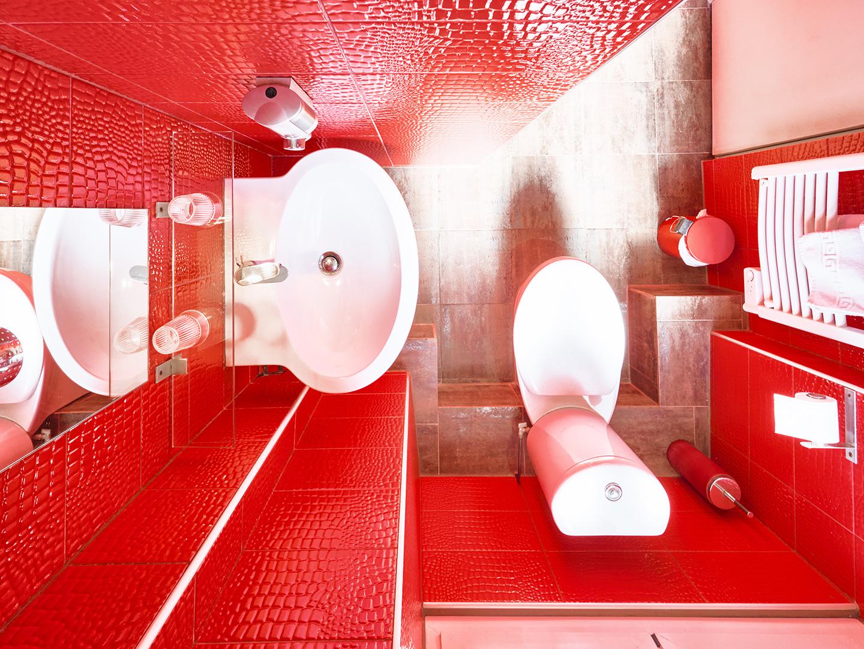 Hôtel Lemon - Menton - Salle de bain et toilettes - vue jardin