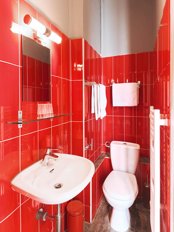 Hôtel Lemon - Menton - Salle de bain et toilettes single