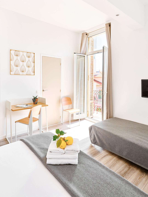 Hôtel Lemon - Menton - Chambre Famille avec balcon