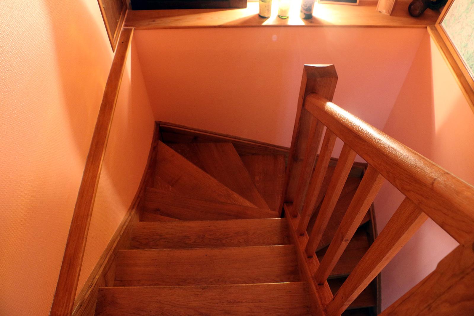 escalier Chambre double – Maisonnette de l'hôtel du Nord – Restaurant Saint-Georges