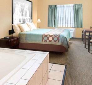 Hot tub suite in Super 8 by Wyndham Henrietta - Rochester Area, New York