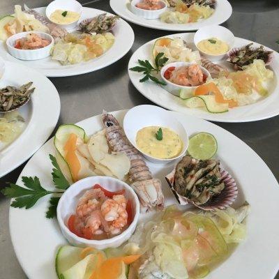 antipasto di pesce hotel adriana bellaria