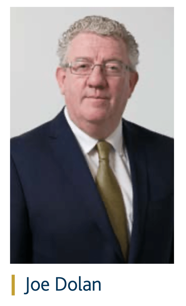 Joe Dolan, former IHF President and owner/manager of Bushes Hotel In Carrick- in-Shannon.