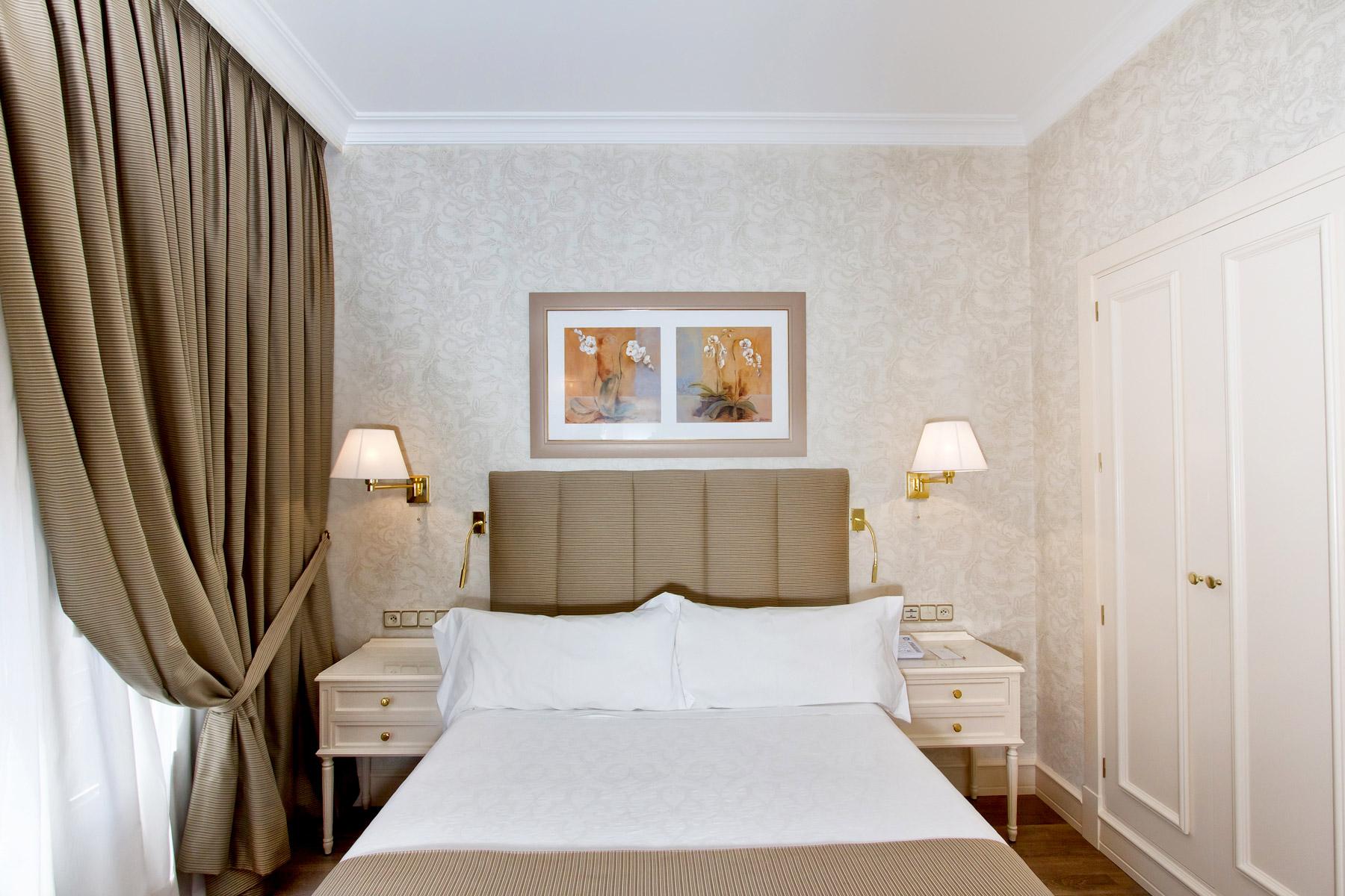 Habitaciones individuales  Hotel Atlantico 4 en Gran Via