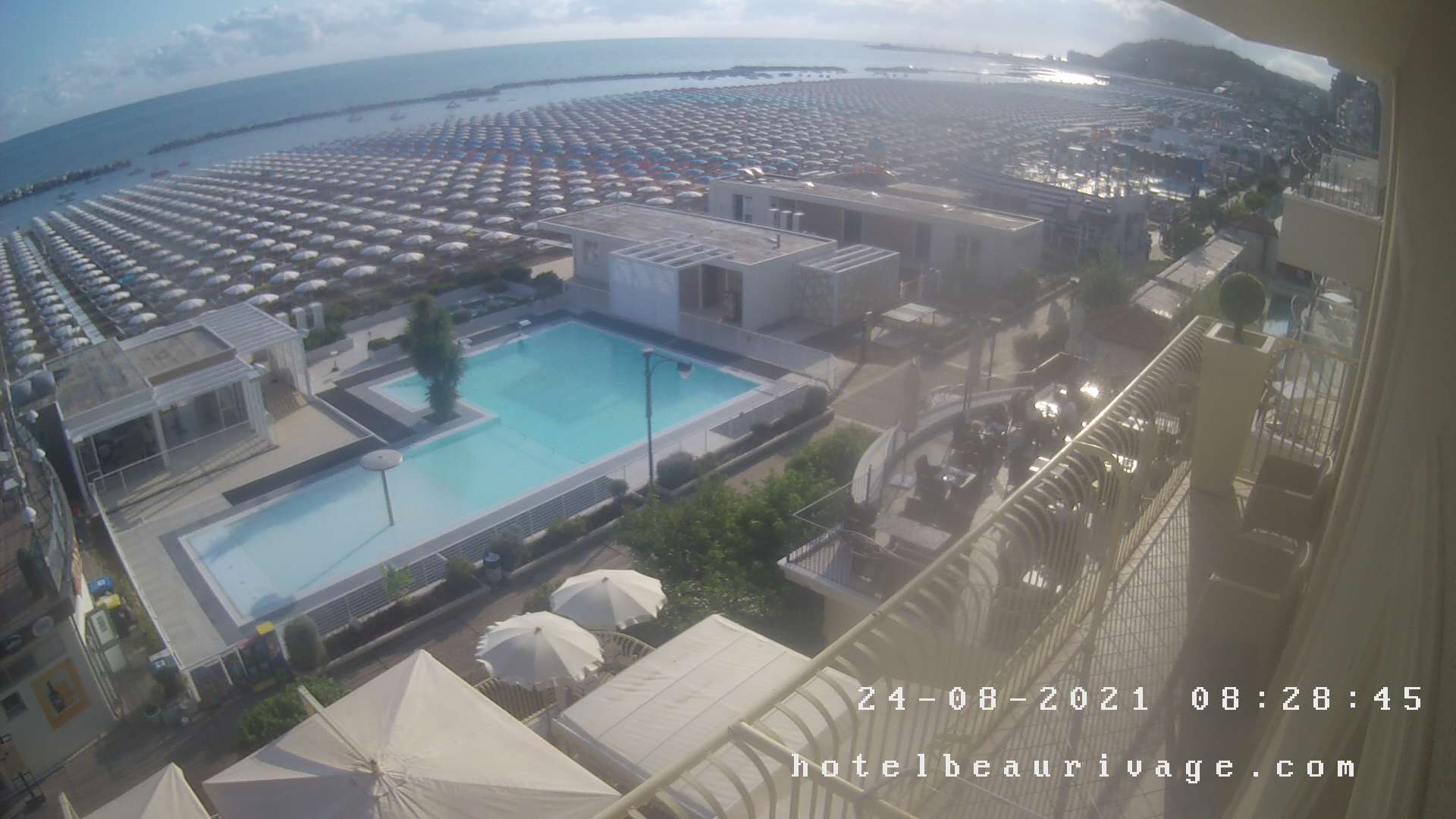 Webcam Cattolica Hotel Beaurivage 4 stelle sul mare
