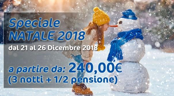 """Offerta Speciale """"NATALE AL BIANCANEVE"""" dal 21 al 26 Dicembre 2018"""