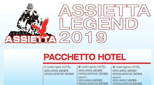 """Offerta Speciale """"ASSIETTA LEGEND 2019"""" dal 04 al 08 Luglio 2019"""