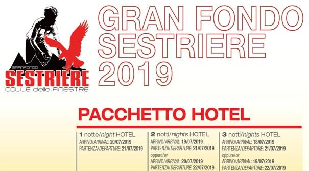 """Offerta Speciale """"GRAN FONDO SESTRIERE 2019"""" dal 18 al 22 Luglio 2019"""