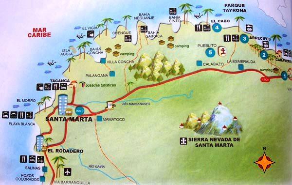 Santa Marta Colombia Mapa.Taganga Still A Great Spot To Get Away From Santa Marta S