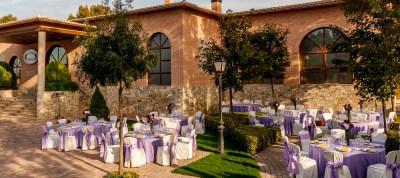 banquete-exterior-morado-hotel-comendador