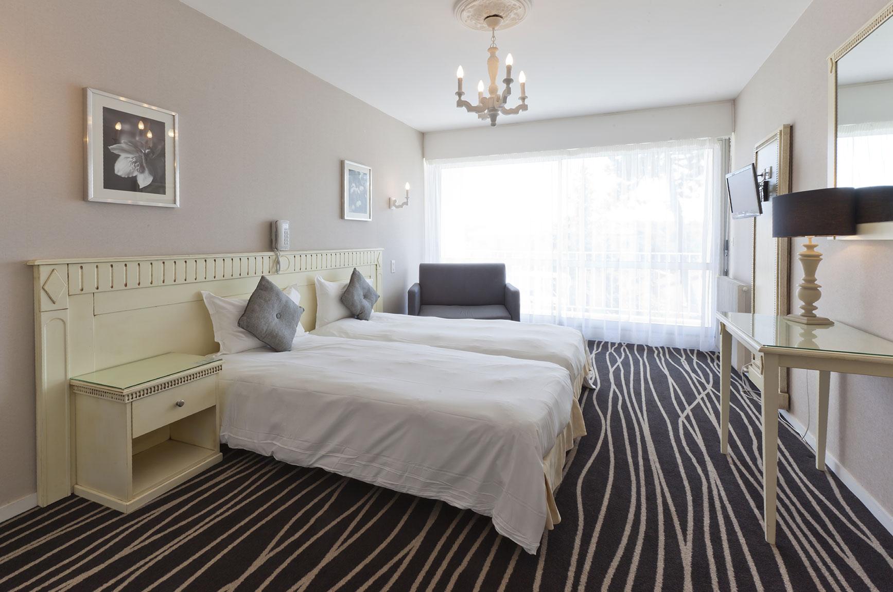 Camera da letto con 2 letti singoli  Htel du Parc