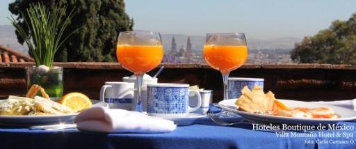 Breakfast in terrace