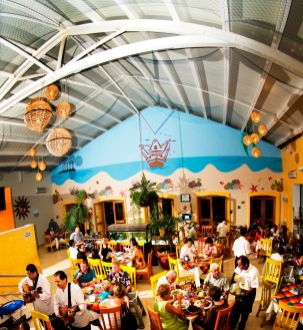 Panoramic view of the restaurant