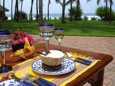 Exotic coconut soup