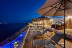 Vista nocturna terraza