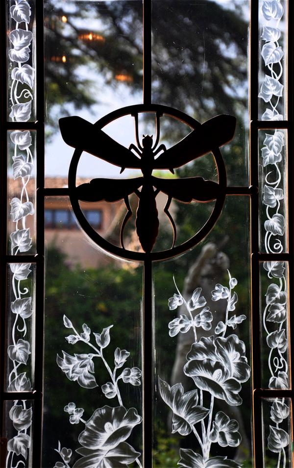 Detalle ventana modernista Can Prunera