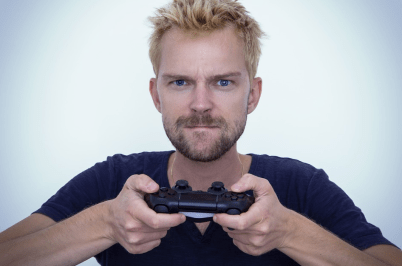 man with controller