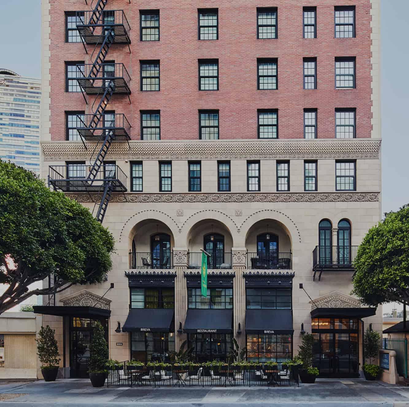 Breva Restaurant In Downtown Los Angeles Hotel Figueroa