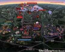 Walt Disney World Resort Map Florida