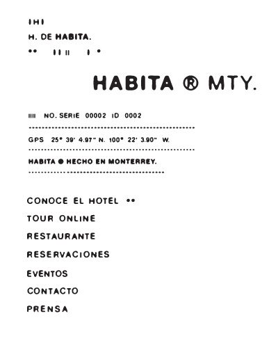 HOTEL HABITA MTY