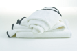 Hotel Luxury Collection - White Jacquard Bath Towel with ...