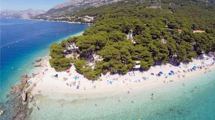 o que fazer na Croácia punta rata praia brela