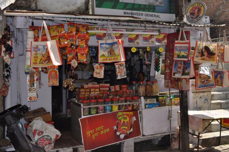 Mercadinho em Udaipur