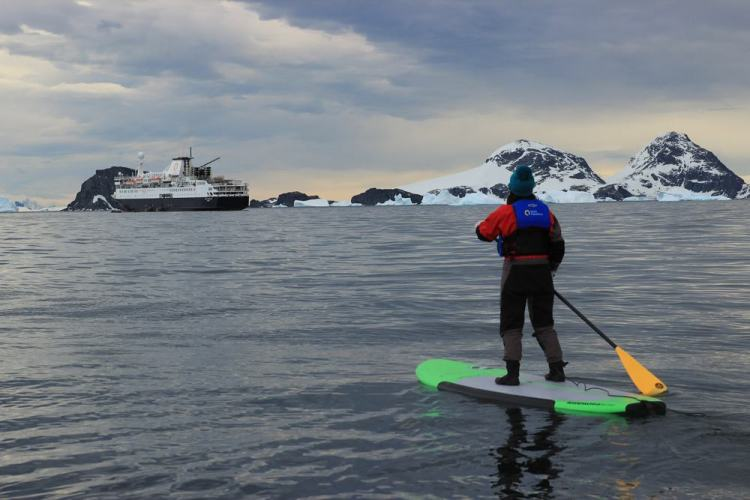 stand up paddle na Antártica